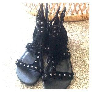 Fringe Sandals Size 7.5